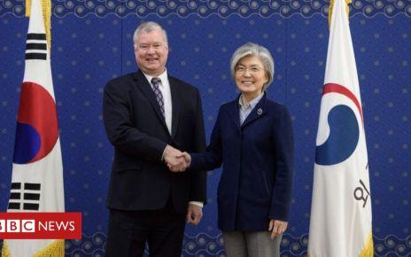 105580209 pairafp - North Korea nuclear talks: US envoy Biegun prepares for Trump-Kim summit