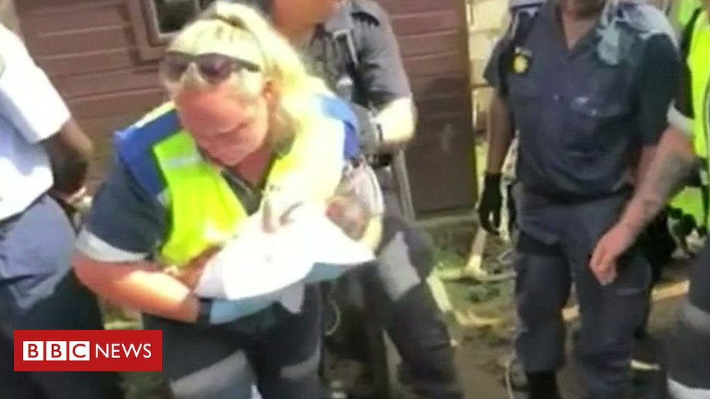 105606776 p070lwbx - South Africa newborn baby rescued from storm drain