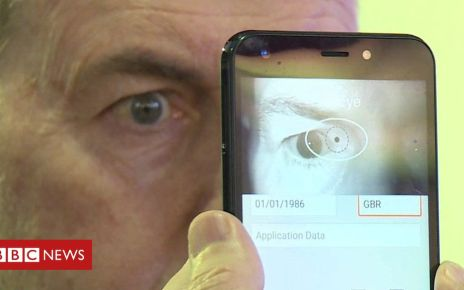 105824781 p07231kr - Iris-scanning phone pitched at refugees