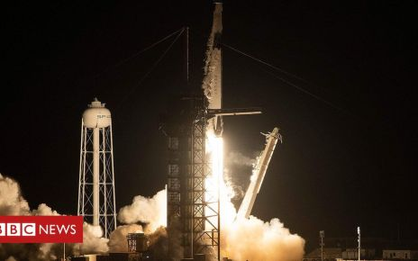 105863780 hi052683448 - SpaceX launches Falcon 9 rocket and astronaut capsule