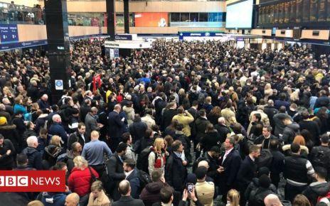 105934917 crowd1 - London Euston trespasser 'fled from police before fall'