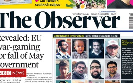 106053363 observer - Newspaper headlines: May 'begs MPs' to back Brexit deal