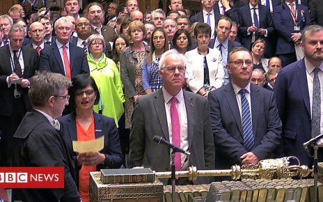 106230434 p074ys1m - Brexit: PM's withdrawal agreement rejected by MPs