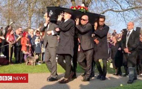 106232904 p074z7sv - Keith Flint funeral: Prodigy singer's cortege arrives at church
