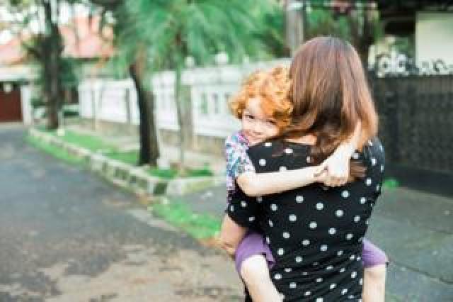 Rebecca and child