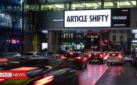 106287661 brexitexpress 2 theeye view2fill - Led by Donkeys and Brexit Express: Why campaigners are using the humble billboard