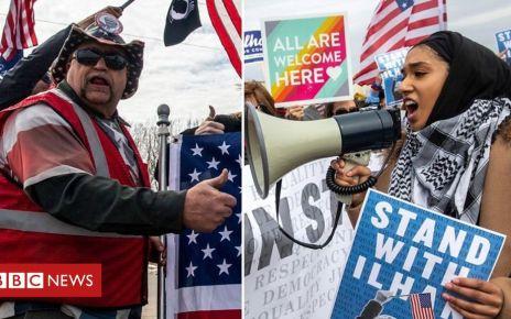 106465114 p076lj3b - Ilhan Omar: Rival rallies for Trump and congresswoman