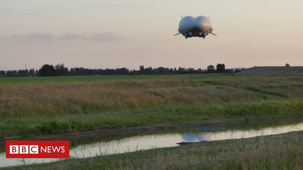 106585478 airlanderlanding - Airlander 10: £1m grant for craft to go 'all-electric'