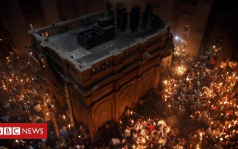 106621770 tv053597828 - Orthodox Christians celebrate Easter - in pictures