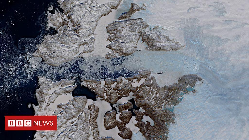 106950257 jakobshavn glacier - Jakobshavn Isbrae: Mighty Greenland glacier slams on brakes