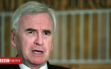 106955647 johnmcdonnellepa - Brexit: 'No significant shift' by government in talks, says McDonnell