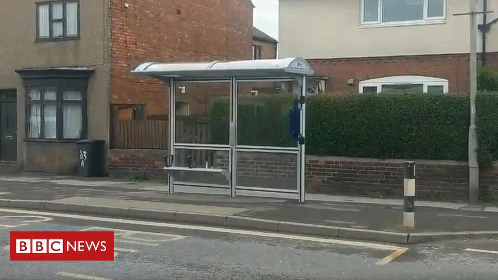 106996544 6ed9dd9c f91d 432b 92a6 2bb80400a97f - Bus shelter built on road with no bus service