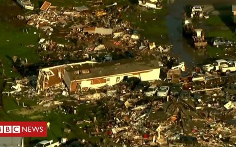 107117411 p07bds6k - Oklahoma tornado: Aerial footage shows the aftermath