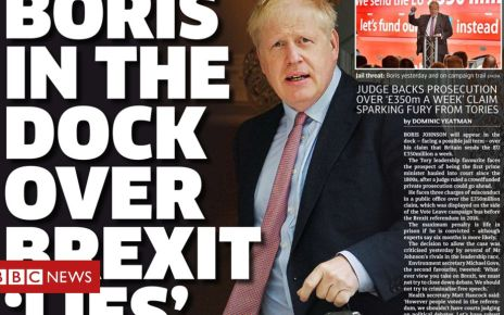 107158486 metro - Newspaper headlines: Boris in court case and calls for cheaper tuition fees