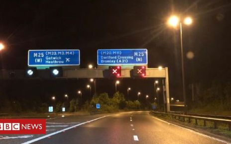 107329077 e0e13b1c 8d5d 4d53 8313 a085e577fec8 - UK weather: Sinkholes close M25 in Kent amid heavy downpours