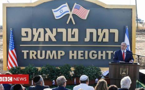 107399240 hi054680562 - Golan Heights: Israel unveils 'Trump Heights' settlement