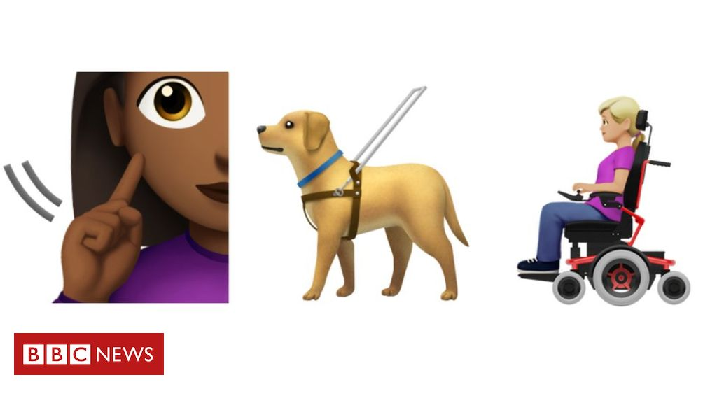 107889711 emojis - Disability emojis: Guide dog and wheelchair user made available