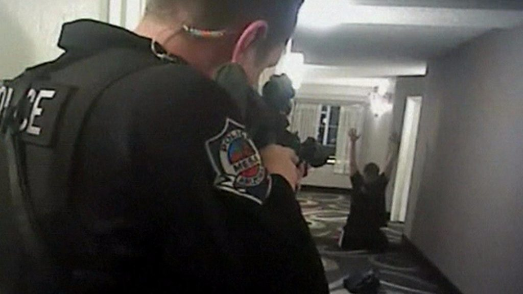 p05qrczy - US cop fired over deadly shooting 'rehired to get pension'