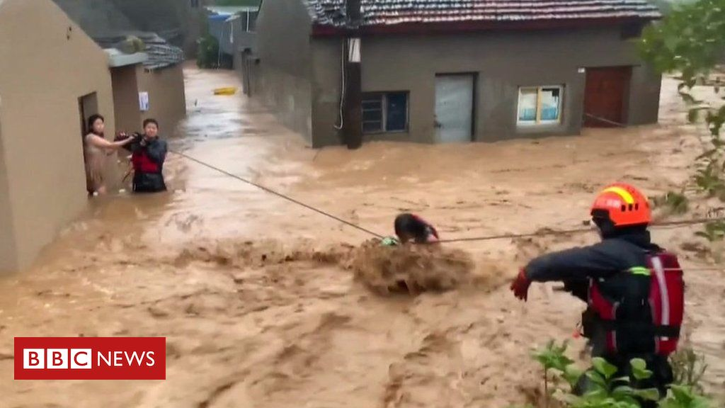 108267524 p07k9gfm - Typhoon Lekima: Dramatic rescues after floods in China
