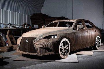 Lexus сделанный из картона