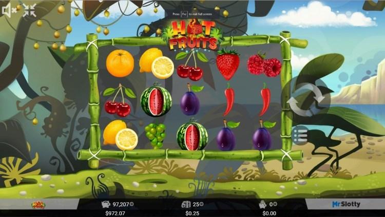 Hot Fruits - фруктовый автомат онлайн