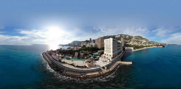80-градусная панорамная фотография отеля Monaco Bay