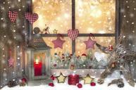 Декор окна в версии уютном с классическими цветами