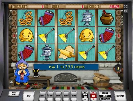 игровое поле автомата колобок