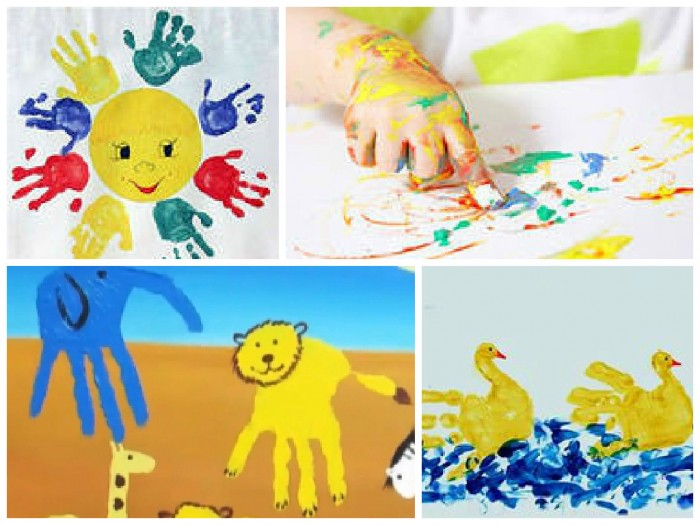 краски для рисования руками