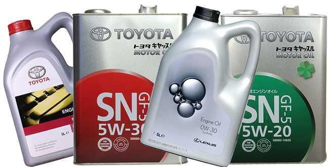 Масла Тойота –  фирменные продукты
