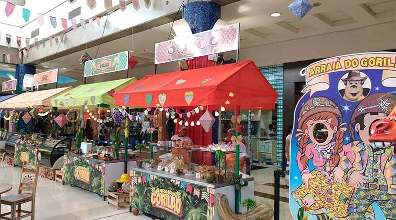 Arraiá do Gorilão continua até dia 2 de julho na Praça de Eventos do Novo Shopping