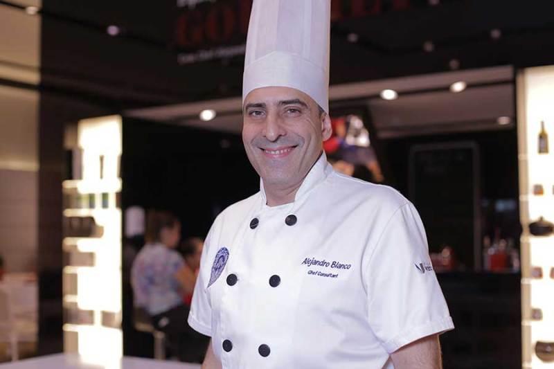 O chef Alejandro Blanco foi o responsável pela organização da área de gastronomia do evento