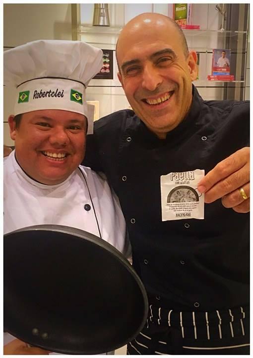 Chef Tclei e colunista da Intertv Web e o chef Alejandro Blanco