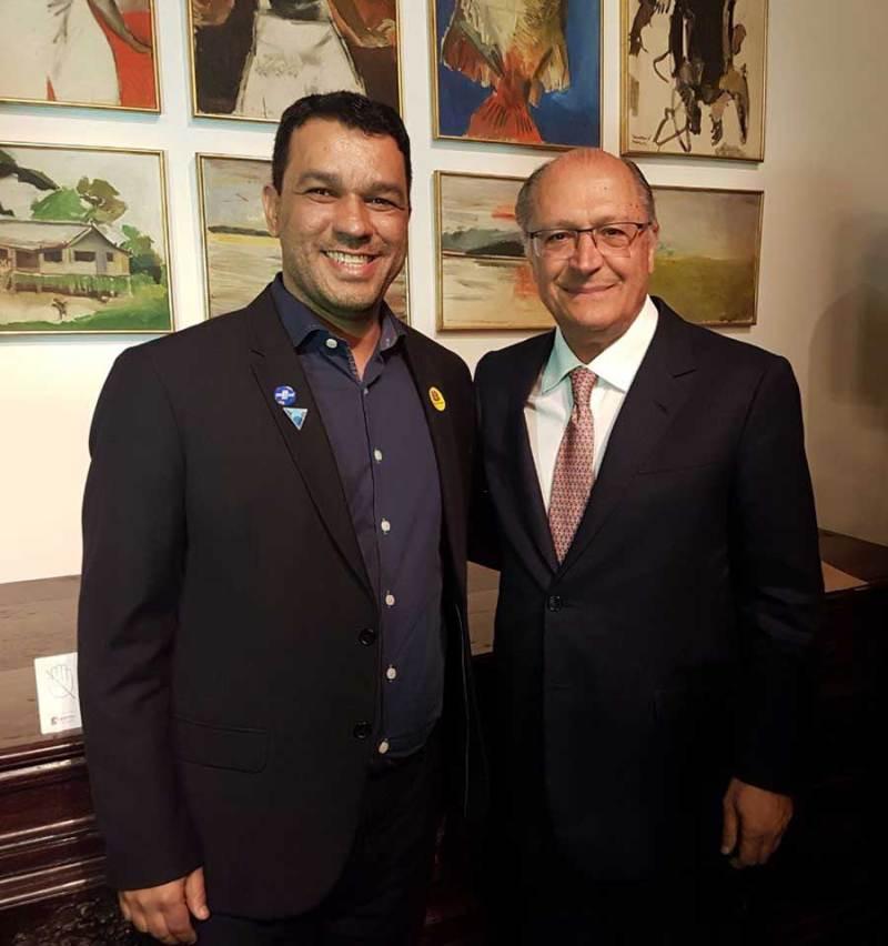 Rodrigo Silveira e o governador Geraldo Alckmin