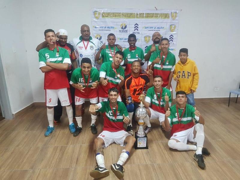 Equipe de Cravinhos se sagrou campeã do Campeonato Paulista Sul & Minas de Futsal
