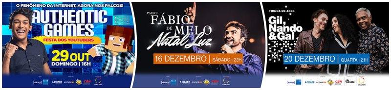 Virazóm divulga agenda dos próximos shows do Centro de Eventos do RibeirãoShopping