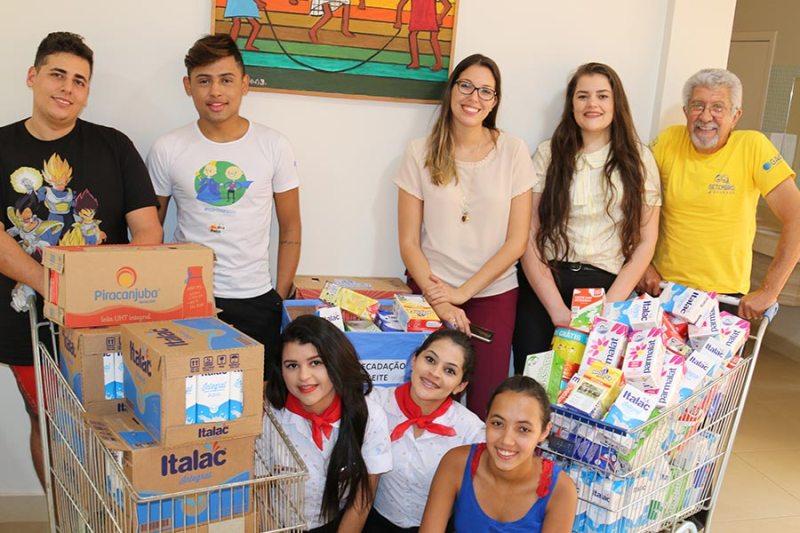 Projeto voluntário arrecada 875 litros de leite