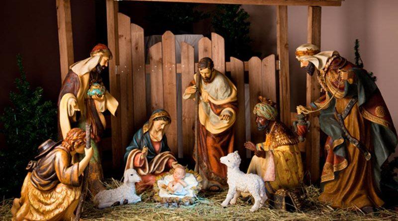 Presépio para a decoração de Natal