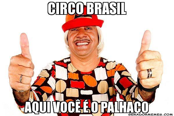 circo brasil - aqui o palhaço é você