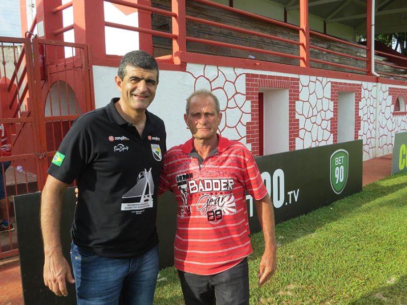 O ex-árbitro Cleber Abade prestigiou os jogos em Cravinhos, juntamente com o secretário municipal de Esportes, Antonio Galatti