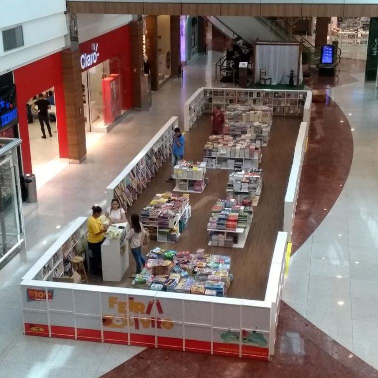 Feira Top Livros é a mais nova atração do Shopping Santa Úrsula