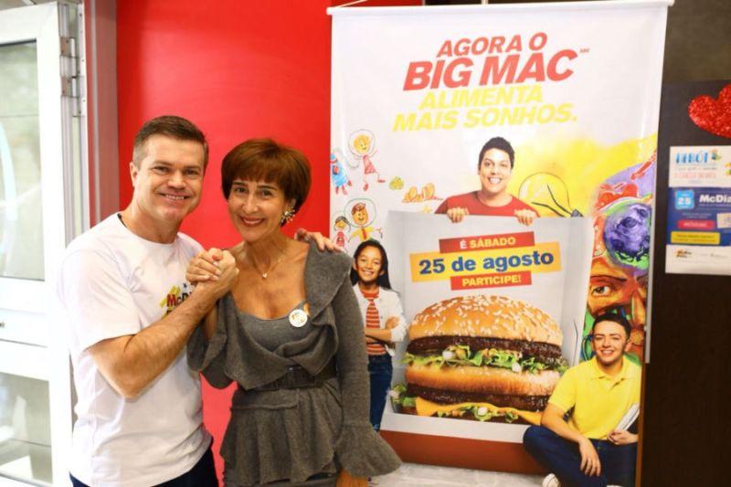 Presidente do McDonald's recebe Viviane Senna durante o McDia Feliz