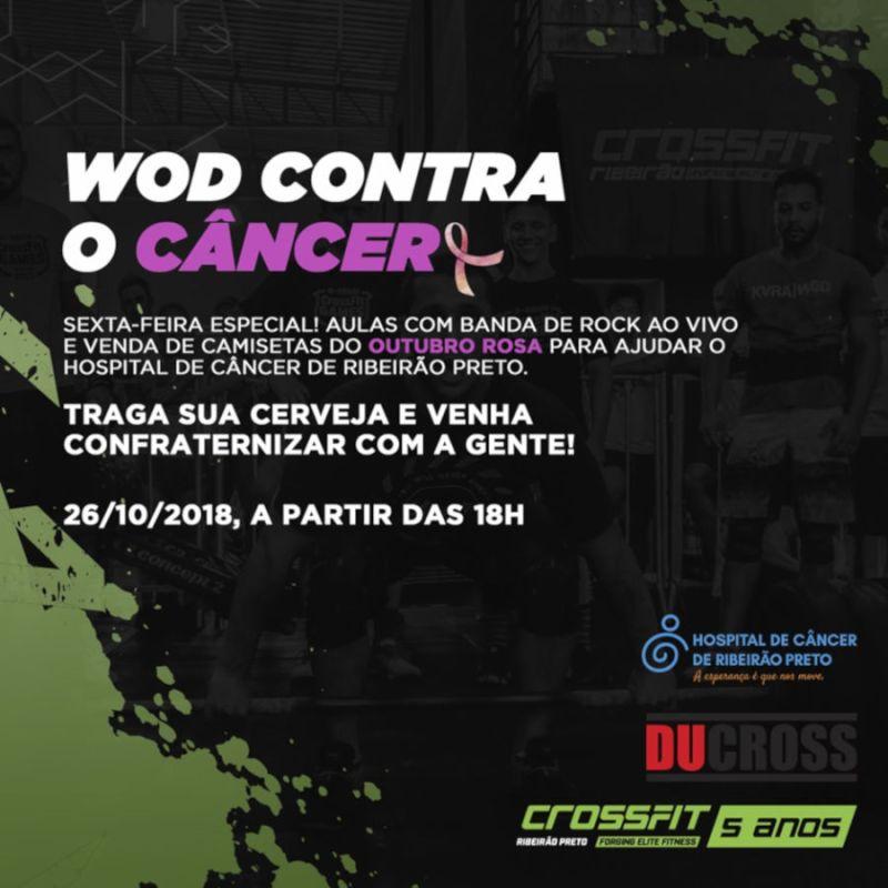 Academia CrossFit Ribeirão realiza aulão em prol do Hospital de Câncer de Ribeirão Preto