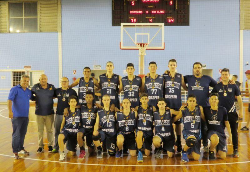 Equipe de Rio Claro ficou com o vice-campeonato