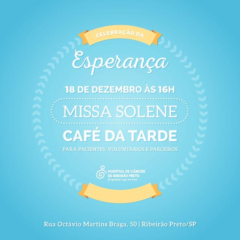 Hospital de Câncer de Ribeirão Preto promove missa solene e café da tarde