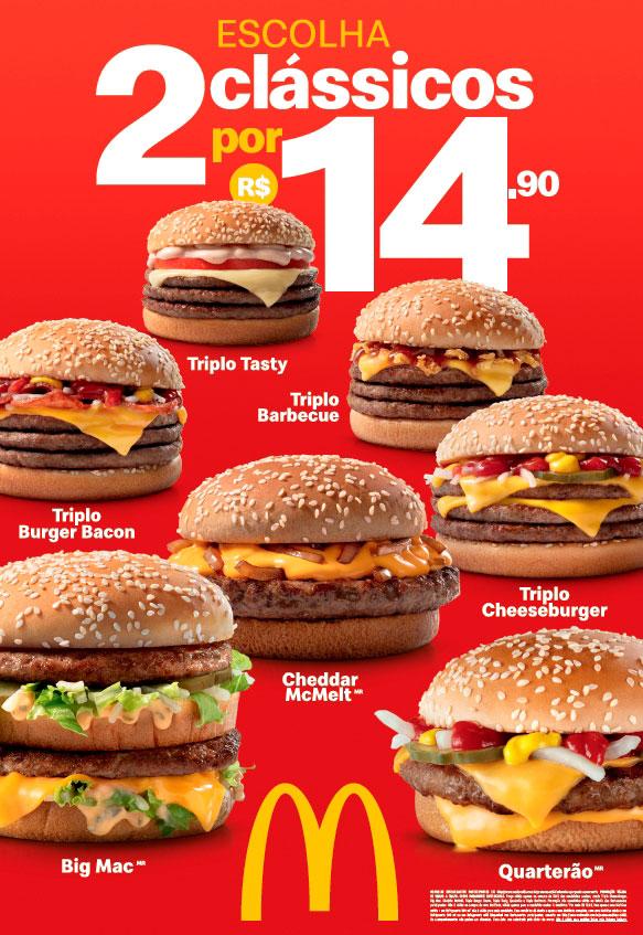 McDonald's inova e traz dois clássicos do dia por apenas R$ 14,90