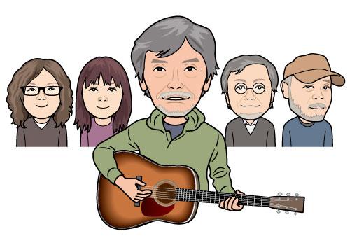 画像:佐々木幸男さんとバックバンド