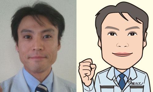社員さんの似顔絵2