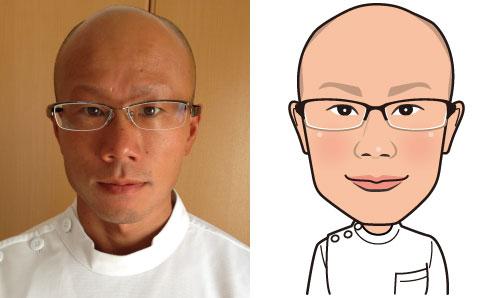 福島県いわき市の整骨院の看板に使う似顔絵