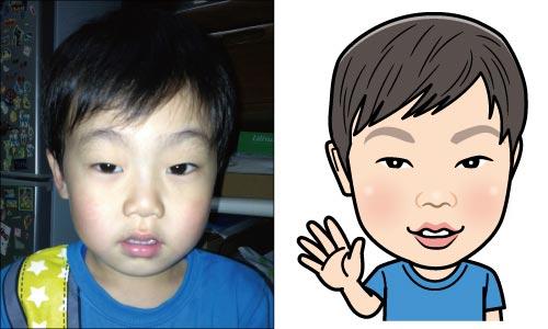 甥っ子の似顔絵2